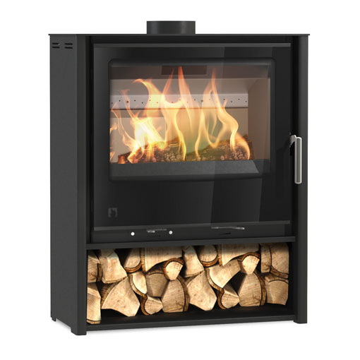 Arada i600 Slimline Freestanding Mid Multifuel and Wood burning stove