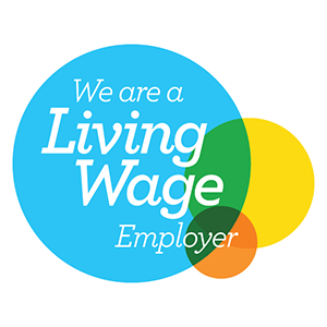 We're A Living Wage Employer logo